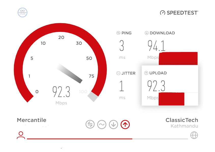 mercantile internet speed test nepal